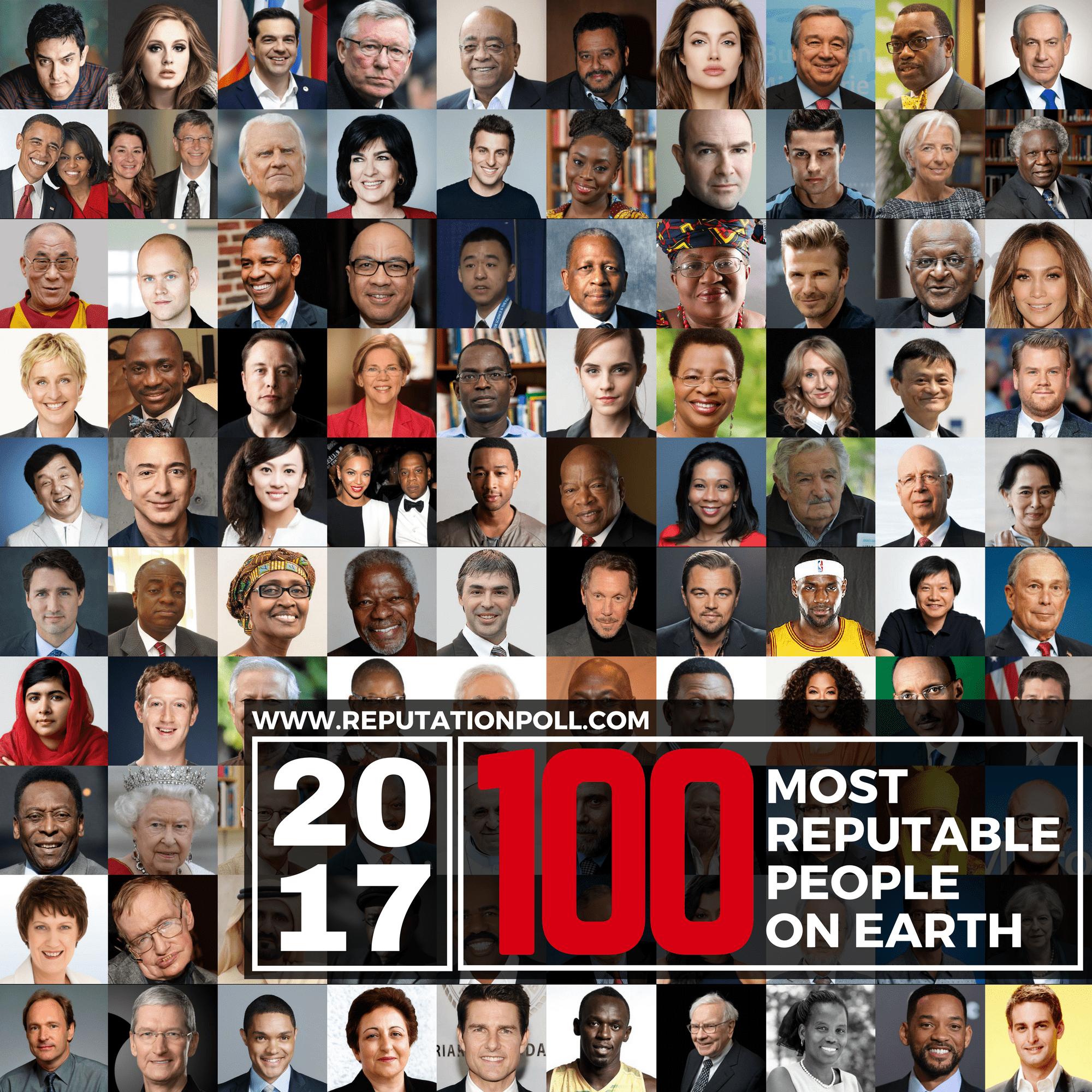 2017 Most Reputable People On Earth Reputation Poll Reputationpoll Cetak Foto Ukuran 24r Salon Global