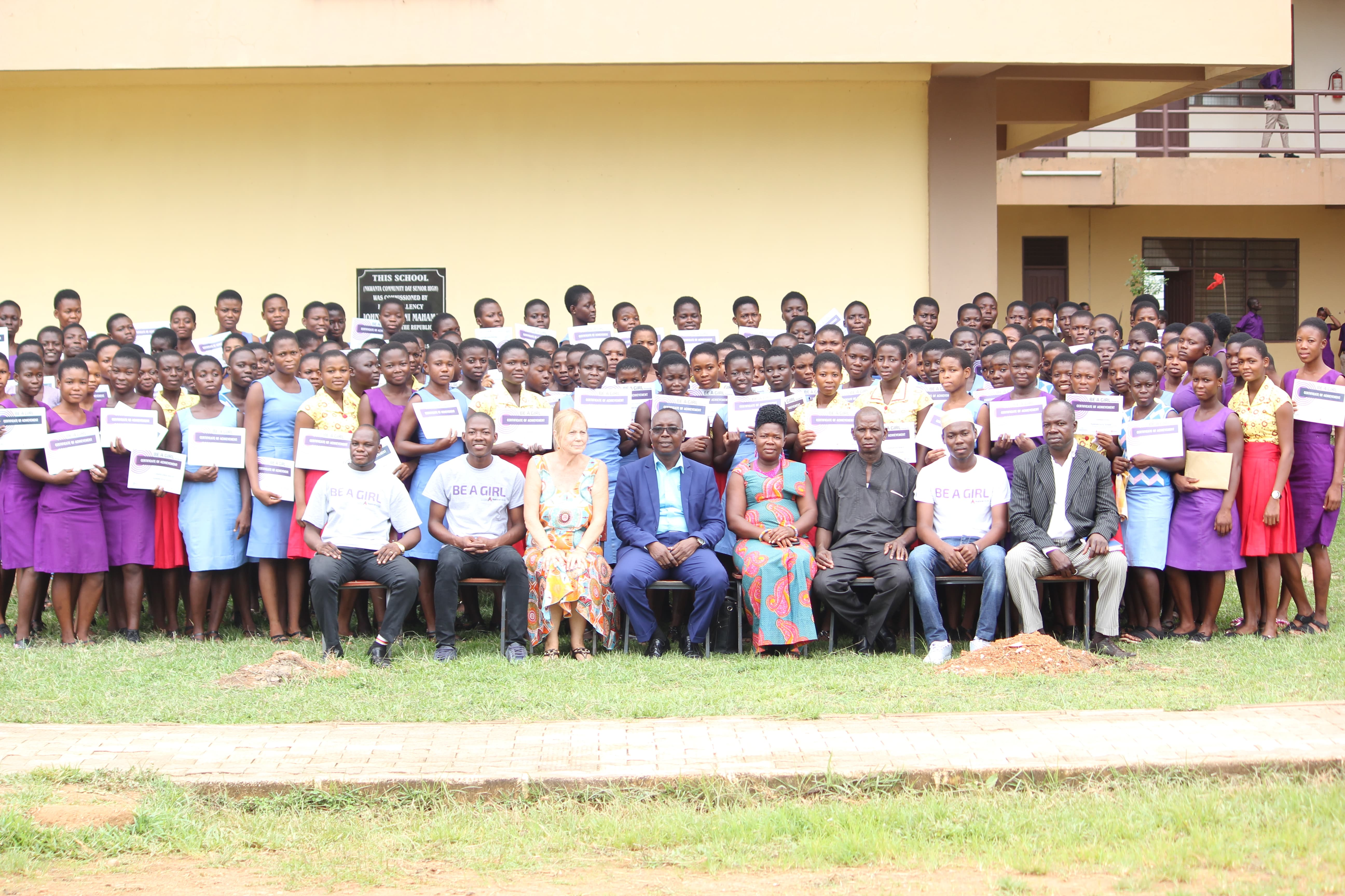 169 High School Students in Nkwanta South Receive 'Be A Girl' Awards